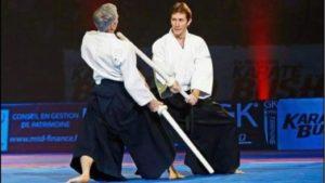 Pascal Guillemin avec Bruno Gonzalez ( festival des arts martiaux à Bercy)
